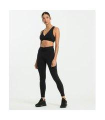 calça legging esportiva em suplex lisa | get over | preto | g