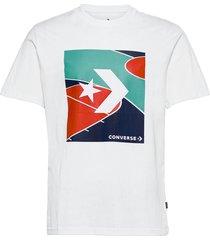 colorblocked court tee black t-shirts short-sleeved vit converse