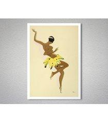 josephine baker banana skirt entertainment travel poster, canvas, sticker print