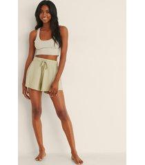 na-kd lingerie soft comfort shorts - green