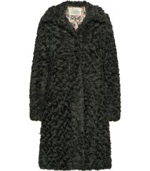 amandine long jacket outerwear faux fur grå odd molly