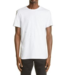 men's moncler maglia logo graphic tee, size large - white