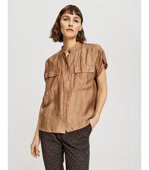 opus blouse met korte mouwen fariso