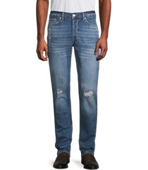 french connection men's distressed slim-fit jeans - blue - size 34