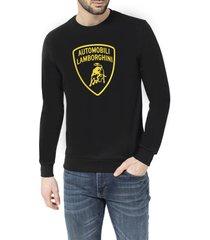 automobili lamborghini 3d shield round-neck sweatshirt