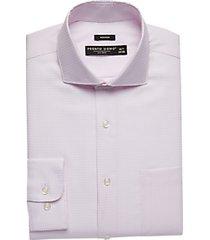 pronto uomo pink patterned modern fit dress shirt