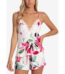 linea donatella perdita floral-print cami & tap shorts pajama set