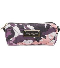 marc jacobs women's camo cosmetic bag - purple camo