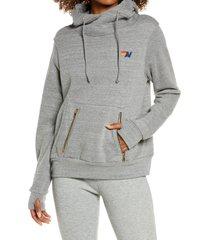 women's aviator nation ninja hoodie, size large - grey