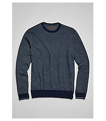 reserve collection tailored fit crew neck birdseye men's sweater
