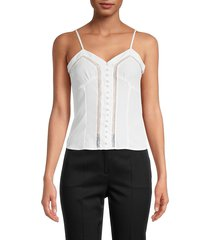 the kooples women's laced sleeveless top - white - size 3 (l)