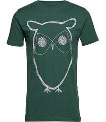 alder big owl tee - gots/vegan t-shirts short-sleeved grön knowledge cotton apparel