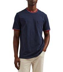 ben sherman ringer crewneck t-shirt, size large in navy blazer at nordstrom