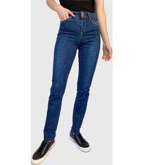 jeans tentation liso azul - calce ajustado