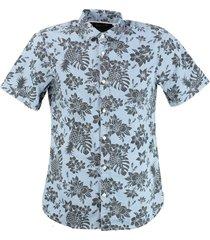 only & sons stevig zacht slim fit overhemd twill katoen