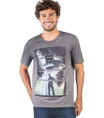 t-shirt estampada spray surfers grafite grafit/m - kanui