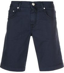 jacob cohen straight-leg denim shorts - blue