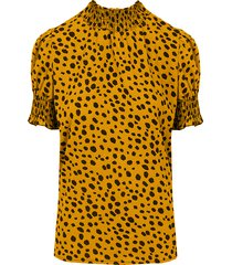 cheetah col top oker