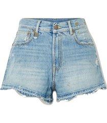 boyfriend distressed denim shorts