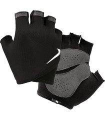 guantes para pesas essential fitness para mujer - negro