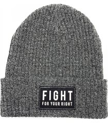 gorro de lana gris fight for your right beanis pericos