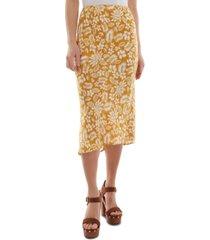 bcx juniors' floral-print midi skirt