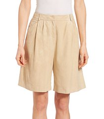 suede clarkson shorts