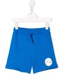 mini rodini tennis ball print shorts - blue