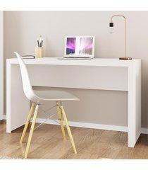mesa escrivaninha me4135 branco - tecno mobili