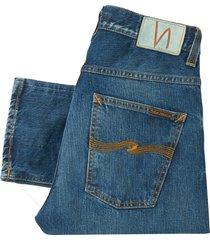 nudie jeans blue visions fearless freddie denim jeans 112657