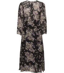delicate semi couture flared dress knälång klänning svart by ti mo
