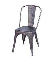 cadeira de jantar retrô or design prata velho