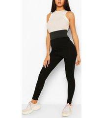 extra deep elastic wasitband legging, black