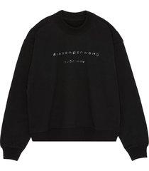 x lane crawford logo embellished unisex sweatshirt