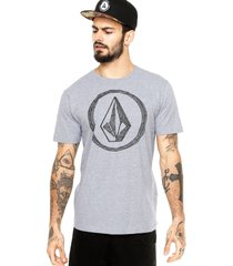 camiseta manga curta volcom refiner cinza