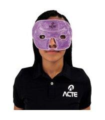 máscara facial total em gel acte r29-r esferas terapêuticas roxo