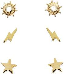 women's panacea celestial 3-pack stud earrings set