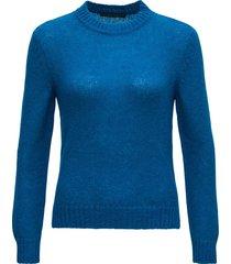 alberta ferretti blue sweater in mohair blend