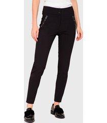 pantalón  ash pitillo negro - calce ajustado