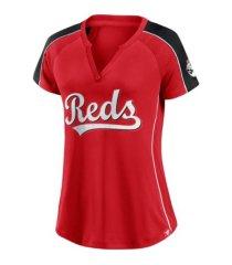 majestic women's cincinnati reds league diva t-shirt