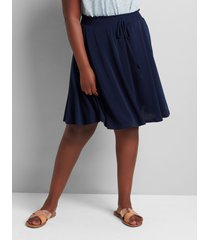 lane bryant women's crepe mini skirt 18/20 night sky