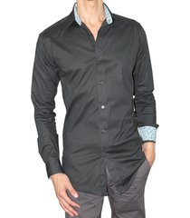 camisa ultra slim fit elástica aranzazu bernard negro