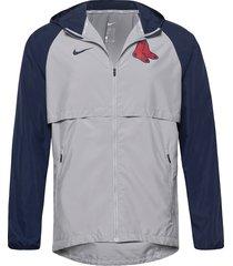 boston red sox nike mesh logo essential hooded jacket tunn jacka grå nike fan gear