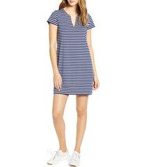 women's vineyard vines sankaty stripe tunic dress, size x-small - blue