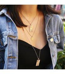 collana multistrato di moda vintage geometrica collana girocollo in lega di stelle donne