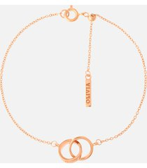 olivia burton women's interlink chain bracelet - rose gold