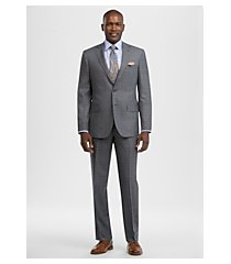 reserve collection tailored fit windowpane plaid men's suit - big & tall by jos. a. bank