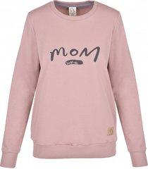 bluza mom dusty pink
