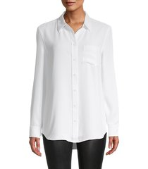 equipment women's long sleeves shirt - true black - size xs