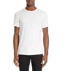 men's rag & bone slim fit slubbed cotton t-shirt, size xx-large - white